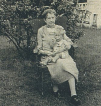 Alice MacLaren Fisher with her Great-grandson Dana Cook, Late 1940s