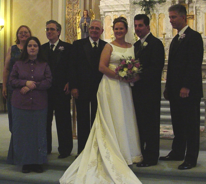 (from left) Laurie, Leslie, Jim, Bill, Heather, Bill and John Mann