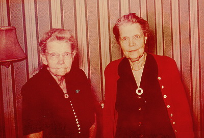 Sisters Clara Weeks and Annie Shonyo