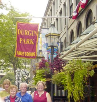 Celebrating Bill Trask's 75th at Durgin Park - Carrie Trask, Ruth Trask, Bill Trask and Laurie Mann