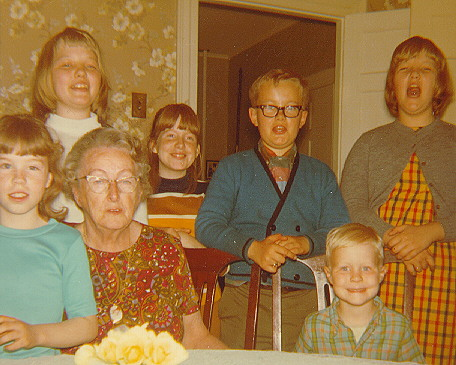Nellie Trask and Some of Her Grandchildren, 1970