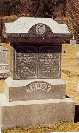 John and Mary Trask's Headstone, New Cemetary, Rochester, VT