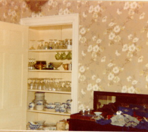 Trask Estate Sale, Dining Room and China Cabinet, August 1980