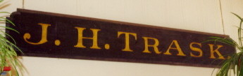 J. H. Trask's Store Sign
