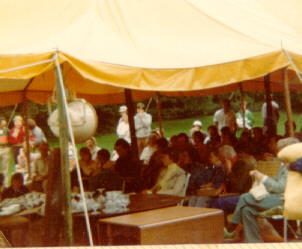 Trask Estate Sale, Back Yard, August 1980