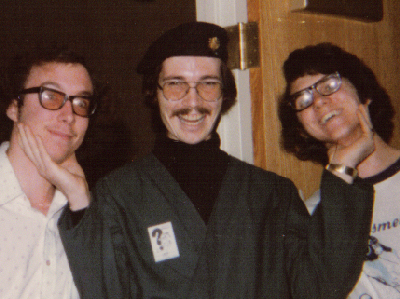 Dalroy Ward, Gregg Zilch Haggland and Mike Jones at Anonycon 1975