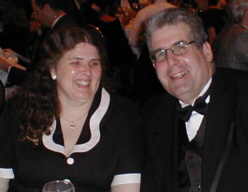 Scott Edelman with his wife, Irene Vartanoff