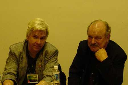 Gregory Frost and Joe Haldeman at the Mass Signing