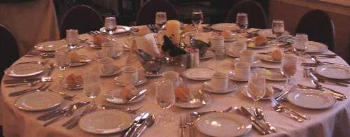 Table Settings for the Nebulas