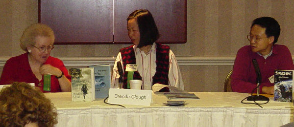 Fruma Klass on a Panel at Capclave 2003 with Brenda Clough