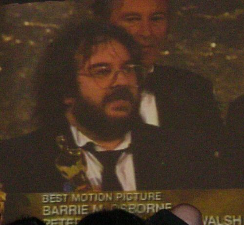 Peter Jackson Accepts the Best Picture Oscar for Return of the King