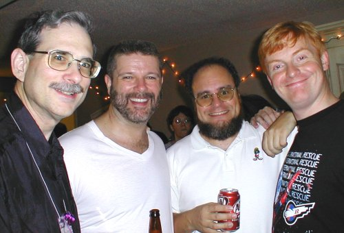 Boston in 2004 Party - Dennis Virzi, Scott Bobo, Kurt Baty & Friend