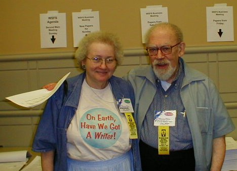 Fruma Klass and William Tenn at the Millennium Philcon, Worldcon 2001
