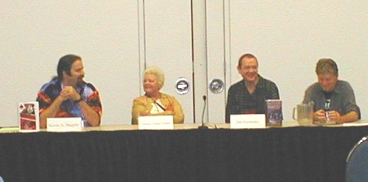 Friday Panel - SF Playwriting - Kevin A. Murphy, Chelsea Quinn Yarbro, Jim Grimsley, and Terry Bisson