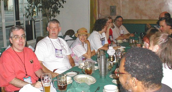 Program Ops Wednesday Night Dinner - Jim Mann, Bill Parker, Sue Wheeler, Rebekah Jensen, Ann Broomhead, Tim Szeuzuiel