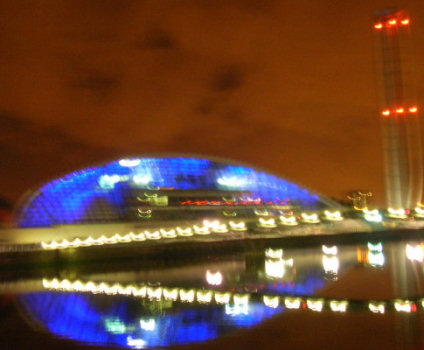 Glasgow Science Center by Night