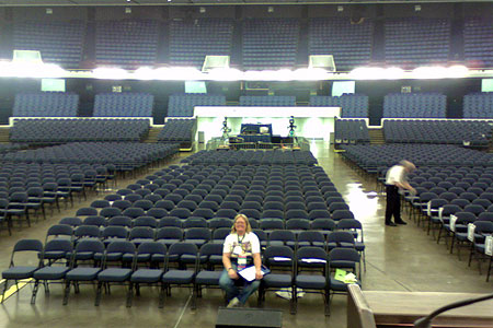 Arena Photo During Rehearsal by John Scalzi