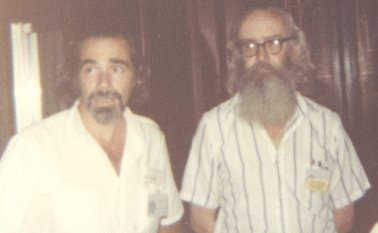 Robert Silverberg and Damon Knight, World SF Convention, Kansas City, MO, 1976