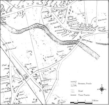 West Boylston Map 1855, courtesy of the West Boylston Historical Society