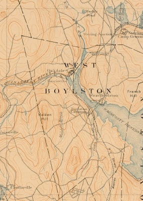 Topological Map of West Boylston, 1917