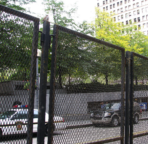 Looking at Mellon Park Through the Security Fence