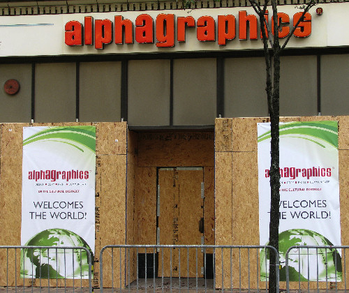 AlphaGraphics Welcomes the World (another photo in the ongoing irony series)