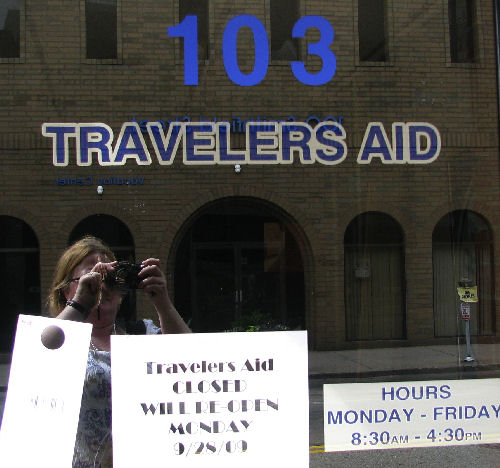 Many Travelers Come to Pittsburgh...So Travelers Aid Is Closed