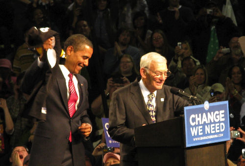 Barack Obama with Dan Rooney