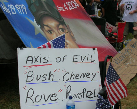 Axis of Evil:  Bush, Cheney, Rove, Rumsfeld