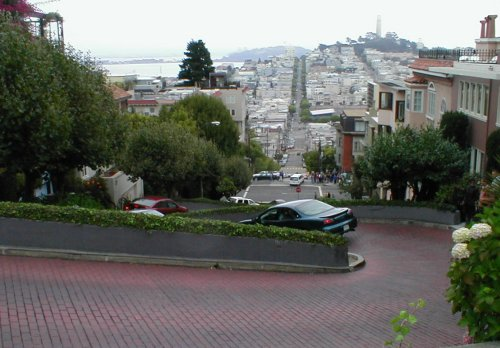 Lombard St - Hairpin Turns and Flowers