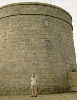 Jim Outside of Martello Tower