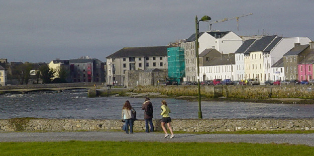 Galway - View of the Houses by the Shore