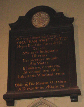 Jonathan Swift's Plaque