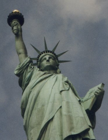 Things We Didn't See in New York in Late 2001 - The Statue of Liberty up Close