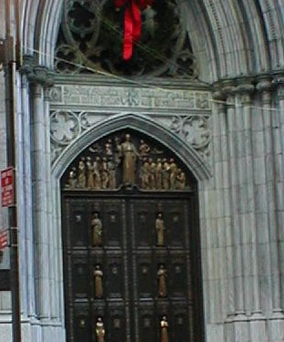 Main Door into St. Patrick's Cathedral