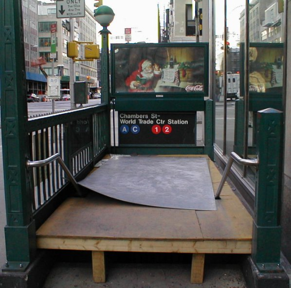 Chambers St. Subway Entrance